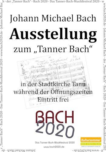 Plakat Ausstellung Bach 2020
